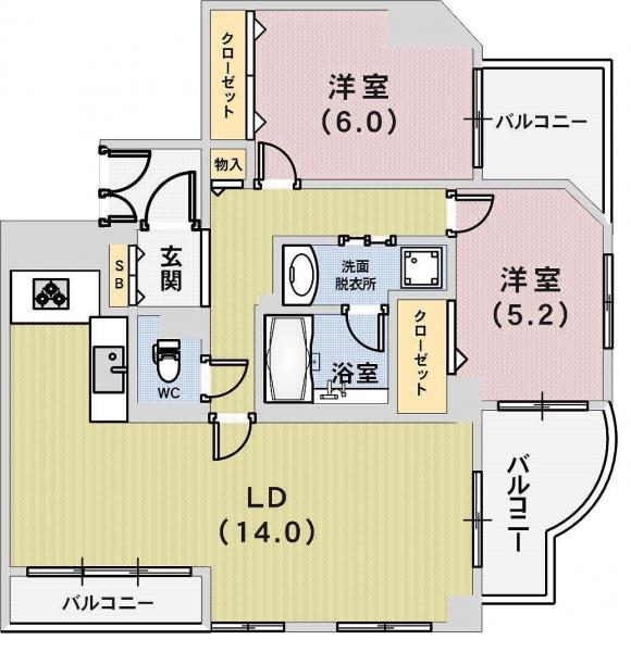 神戸市東灘区御影中町 間取画像