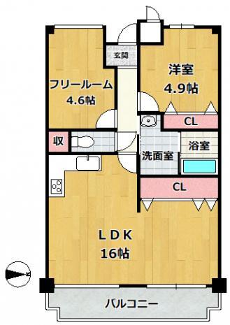 神戸市垂水区塩屋町 中古マンション間取画像