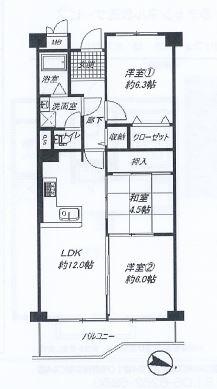 神戸市中央区神仙寺通 間取画像