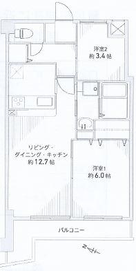神戸市中央区旗塚通 間取画像