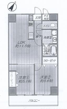 神戸市中央区御幸通 間取画像