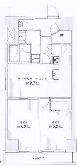 神戸市中央区布引町 間取画像