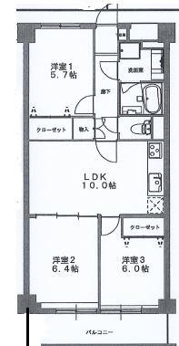 神戸市灘区船寺通 中古マンション間取画像