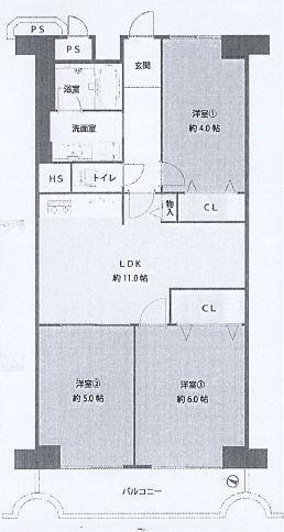 神戸市東灘区本庄町 中古マンション間取画像