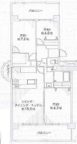 神戸市東灘区向洋町中 間取画像
