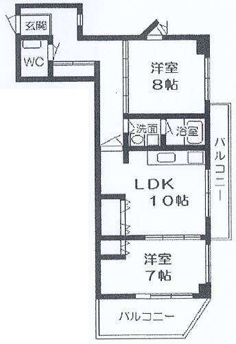 神戸市東灘区田中町 間取画像
