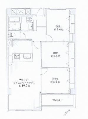 神戸市東灘区渦森台 間取画像
