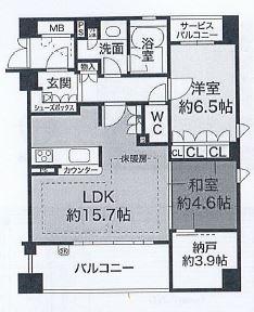 神戸市中央区上筒井通 間取画像