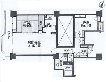 神戸市中央区港島中町 間取画像