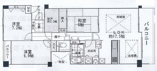 神戸市東灘区鴨子ケ原 間取画像