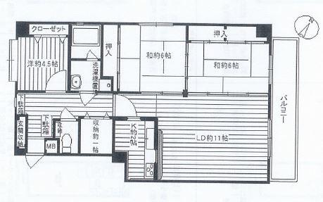 神戸市中央区下山手通 間取画像