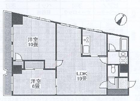 神戸市中央区布引町 中古マンション間取画像